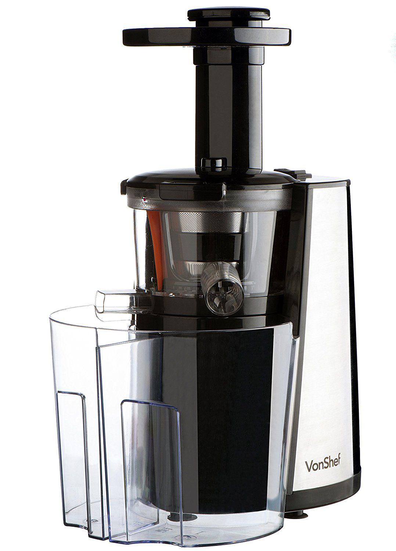 VonShef 150W Slow Masticating Single Auger Juicer