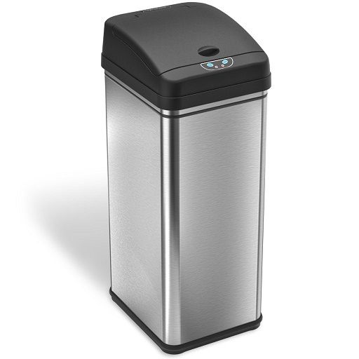 Stainless-Steel-Auto-Trash-Can-Wide-Open-by-iTouchless