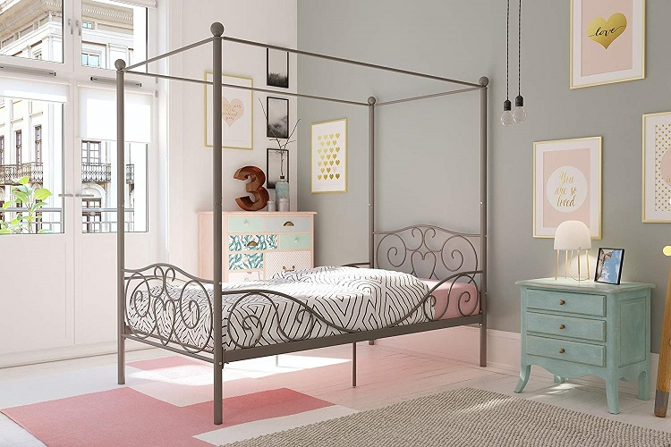 DHP Twin Size Canopy Bed