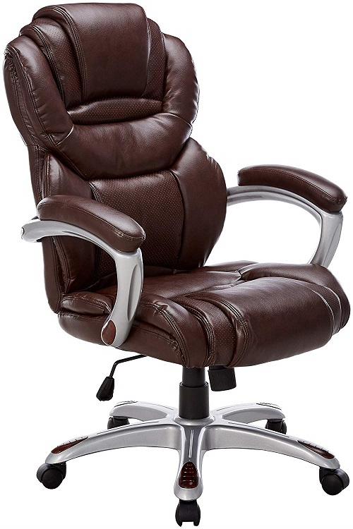 Flash Furniture Brown Leather Office Chair