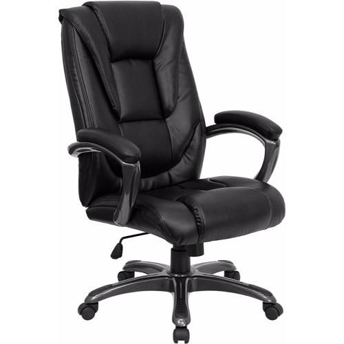 Flash Furniture High Back Black Leather Executive Swivel Chair