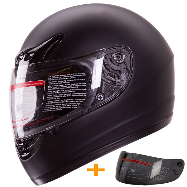 Motorcycle Helmet DOT +2 Visor