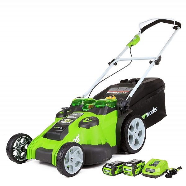 GreenWorks 25302 Cordless Electric Lawn Mower