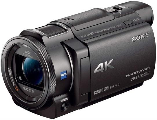 Sony 4K HD FDRAX33 Handycam